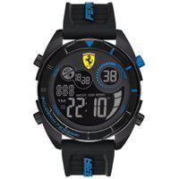 Relógio Scuderia Ferrari Masculino Borracha Preta - 830767