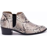 Ankle Boot Couro Snake Natural