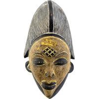 Máscara Tribal Punu Em Madeira