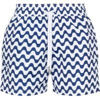 Frescobol Carioca Copacabana Printed Swim Shorts - Azul