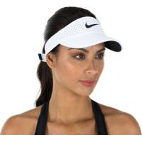 Viseira Nike Aerobill - Adulto - Branco/Preto