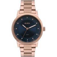 Relógio Euro Bicolor Trendy Feminino - Feminino-Bronze