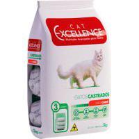 Ração Para Gatos Castrados Cat Excellence Sabor Carne 3Kg