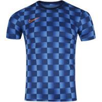 Camiseta Nike Dry Academy Top Ss Aop - Masculina - Azul/Laranja