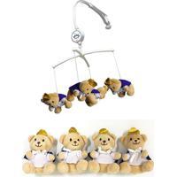 Móbile De Pelúcia Urso Príncipe Unik Toys Bege - Tricae