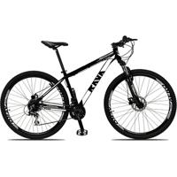 Bicicleta Aro 29 Rava Pressure 24V Câmbio Shimano Acera Freio A Disco Hidráulico Suspensão Com Trava - Unissex