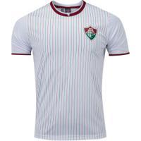 Camiseta Do Fluminense Ray 19 - Masculina - Branco/Vinho