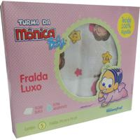 Kit De Fralda Com 5 Unidades Da Mônica