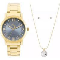 Kit Relógio Feminino Allora Al2035Fnak4D