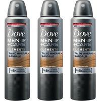 Kit Desodorante Dove Men + Care Aerosol Talco Mineral E Sândalo Masculino 150Ml 3 Unidades - Masculino-Incolor