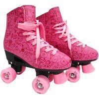 Patins Roller Estilo New Rosa N. 36 Dm Toys