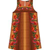 Vestido Trapézio Estampado Laranja Tamara - Lez A Lez
