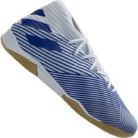 Chuteira Futsal Adidas Nemeziz 19.3 Ic - Adulto - Branco/Azul