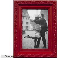 Porta Retrato- Vermelho- Tamanho Da Foto: 10X15Cm