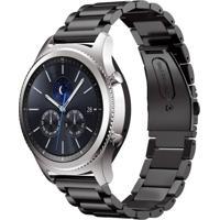 Pulseira De Metal Inox Tudo Smartwatch Para Samsung Galaxy Gear S3 Classic Preto