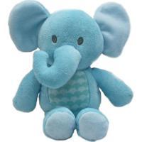 Pelúcia Pequena - 30 Cm - Elefantinho - Azul - Minimi