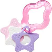 Mordedor Clean Com Estrelas Lolly Baby Branco E Rosa