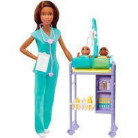 Boneca Barbie Pediatra Morena - Mattel