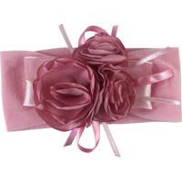 Faixa Fuxicos E Frescuras Buquê De Rosas Rosada - Tricae