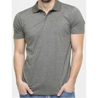 Camisa Polo Block Hurley Masculino - Masculino-Cinza