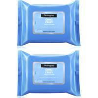 Kit Neutrogena 2 Lenços De Limpeza Facial E Demaquilante Com 25 Unidades Cada - Feminino