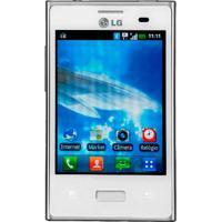 """Smartphone Lg Optimus L3 E400 Branco - 3G - Wi-Fi - 3.2"""" - 3Mp - Android 2.3"""