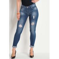 Calça Juvenil Destroyed Jeans Sawary