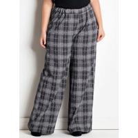 Pantalona Xadrez Marguerite Plus Size