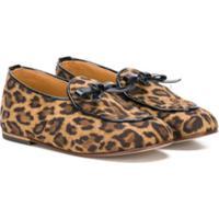 Babywalker Leopard-Print Ballerinas - Marrom