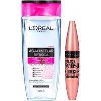 Kit 1 Água Micelar Bifásica Solução De Limpeza Facial 5 Em 1 L Oréal Paris 200Ml 1 Máscara - Feminino-Incolor