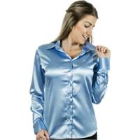 Camisa Pimenta Rosada Aqua - Feminino-Azul Claro