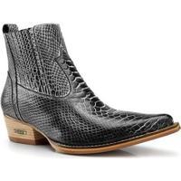 Bota Texana Capelli Boots Country Couro Com Fechamento Elástico Masculina - Masculino-Preto