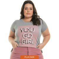 Blusa Go Girl Cinza