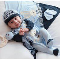Saída De Maternidade Sônia Enxovais Menino Coelhinho Azul