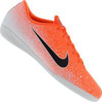Chuteira Futsal Nike Mercurial Vapor X 12 Academy Ic - Adulto - Laranja/Branco