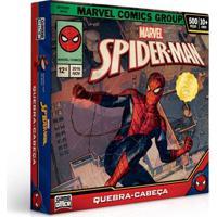 Quebra-Cabeça - 500 Peças - Disney - Marvel - Spider-Man - Toyster - Masculino-Incolor