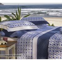 Edredom Tripoli King Size- Branco & Azul Escuro- 250Sultan
