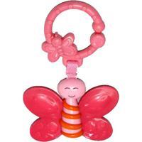 Chocalho Borboleta- Pink & Rosa- 14,5X10X2,5Cm- Dican