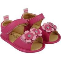 Sandália Infantil Couro Catz Calçados Gipsy Flores Feminina - Feminino-Pink