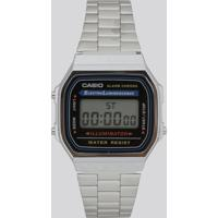 3a82701a71f CEA  Relógio Digital Casio Feminino - A168Wa1Wdf Prateado - Único