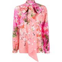 Givenchy Blusa Com Estampa Floral E Laço - Rosa
