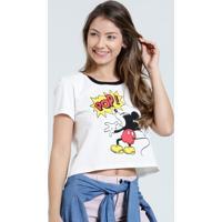 Blusa Feminina Mickey Manga Curta Disney
