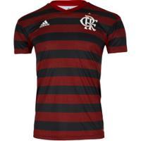 Camisa Do Flamengo I 2019 Adidas Com Patrocínio Mrv - Masculina - Vermelho/Preto