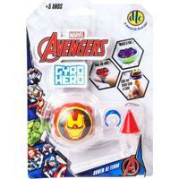 Pião De Batalha - Giro Hero - Disney - Marvel - Avengers - Homem De Ferro - Dtc