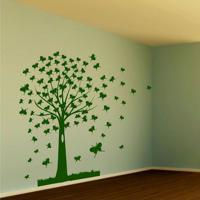 Adesivo De Parede Árvore Borboletas