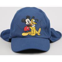 Boné Infantil Turma Do Mickey Azul Marinho