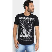 Camiseta Opera Rock Rockn' Roll Masculina - Masculino-Preto