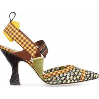 Fendi Sapato Colibri Com Alça No Tornozelo - Preto