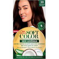 Coloração Soft Color Wella 30 Castanho Escuro Com 1 Unidade 1 Unidade