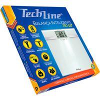 Balança Digital Techline Bioimpedância Tec-117 Branca Capacidade 180Kg